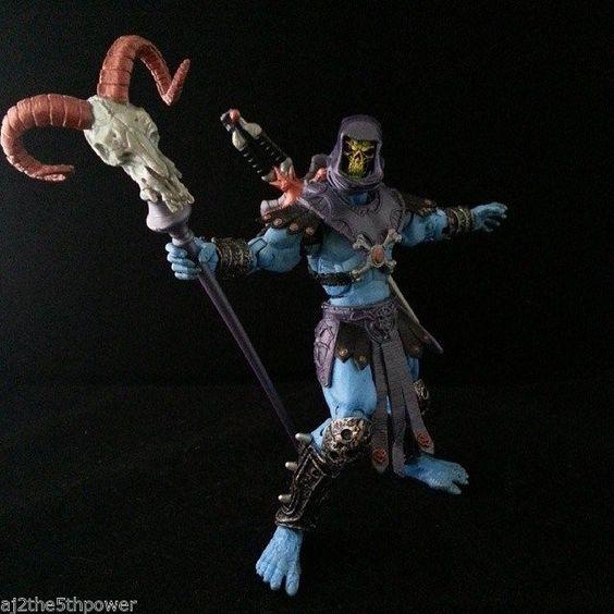 Masters of The Universe 200X Skeletor Custom Figure #MattelandMeMadeCustomsmixedadditions
