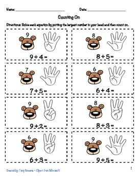 Printables Counting On Worksheets count marketing and toyota on pinterest worksheets are used to reinforce math counting strategies