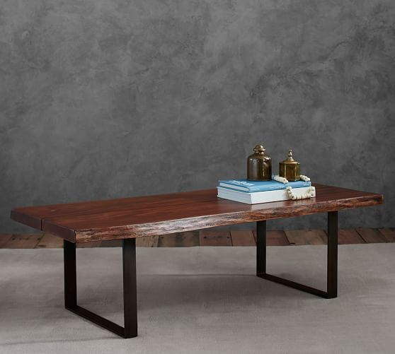 Waller Live Edge Coffee Table Coffee Table Pottery Barn Coffee Table Live Edge Coffee Table