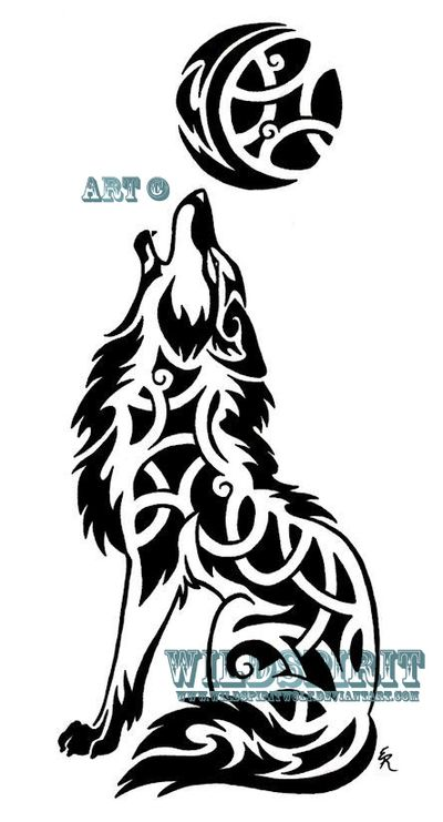 Celtic Tribal Howling Coyote by WildSpiritWolf