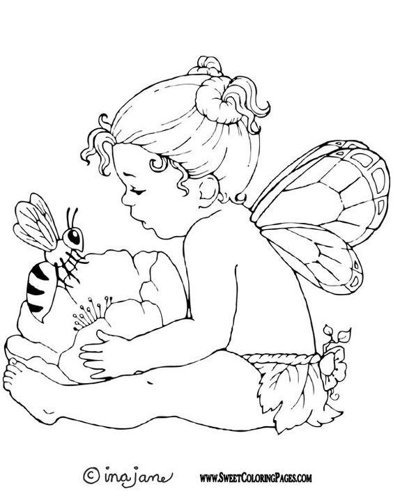 fairy coloring pages   color book   Pinterest   Colorante, Hadas y ...
