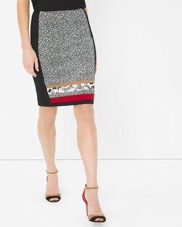 White House | Black Market Colorblock Pencil Skirt