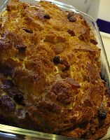 Toast Pudding... I need to begin making this again.  Especially with homemade oatmeal bread!