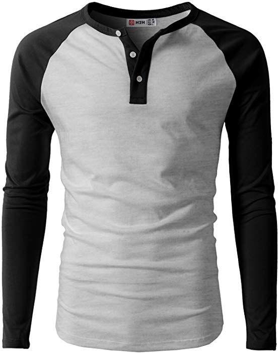 Mens T Shirts Designer Raglan Shirt Henley Long Sleeve Cotton T-Shirt Casual Button Round Neck Slim Fit Tops