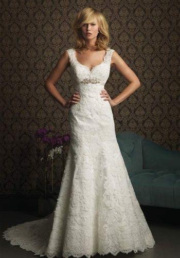 feminine, vintage wedding dress