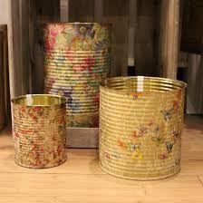 Resultado de imagen de latas decoradas