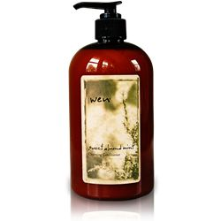 Wen Sweet Almond Mint Cleansing Conditioner.