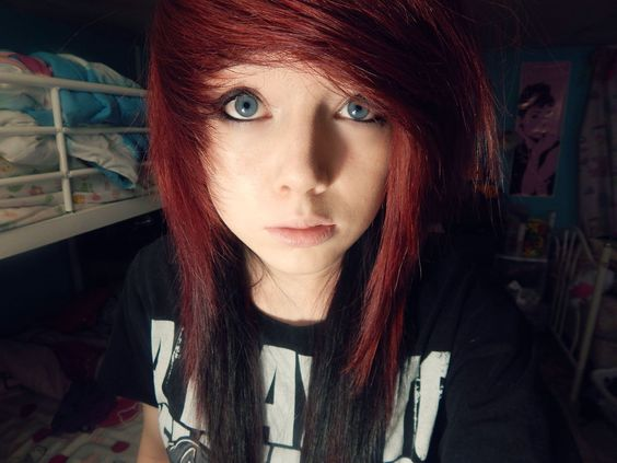Fabulous Scene Hair Colors And Red Hairstyles On Pinterest Short Hairstyles Gunalazisus
