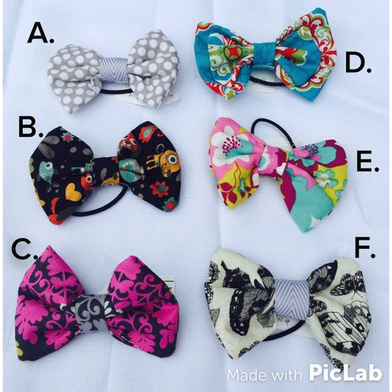 Fun Fabric Padded Bow Ponytail toddler little by SweetPeaPaisley