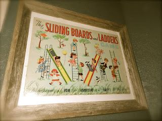 Vintage board game box, I loved it so I framed it for the nursery