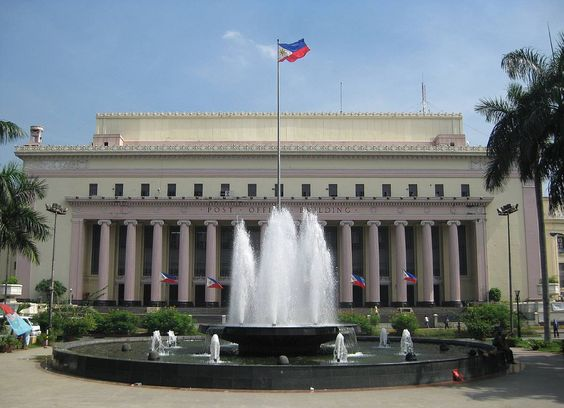 The Manila Central Post Office located at Liwasang Bonifacio, is a Neo-Classical style building designed by Architect Juan Marcos de Guzman Arellano in 1926. It was destroyed during World War II and rebuilt in 1946, after the war.