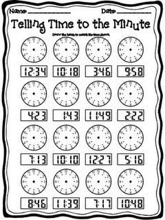 math worksheet : telling time!  teaching math  pinterest  telling time to the  : 2nd Grade Math Time Worksheets