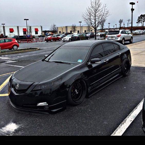 Acura TL Slammed Black On Black
