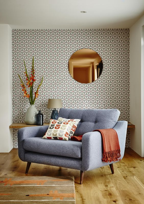 Round copper wall mirror mirrors accessories - Pictures of mirrors in living rooms ...