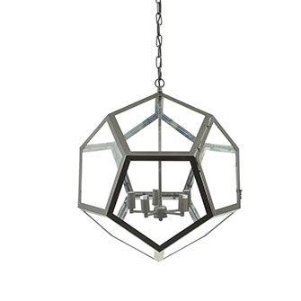 Bowes Black Pentagon Glass Chandelier