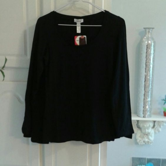 LONG SLEEVE TEE TOP. BOGO NWT Very soft long sleeve cotton poly  blend more of a fitted tee with a scoop neck.  NWT Boutique Tops Tees - Long Sleeve