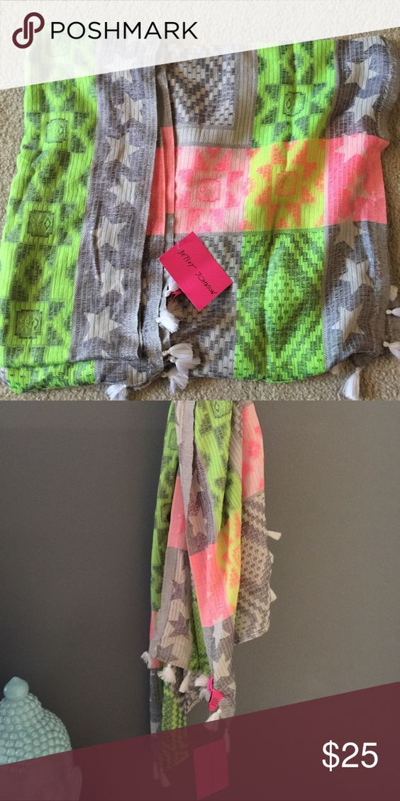 💗Gorgeous Betsey Johnson scarf💗 New with tags. Betsey Johnson Accessories Scarves & Wraps