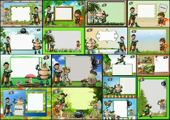 Tree Fu Tom Free Printable Invitations, Cards or Photo Frames.