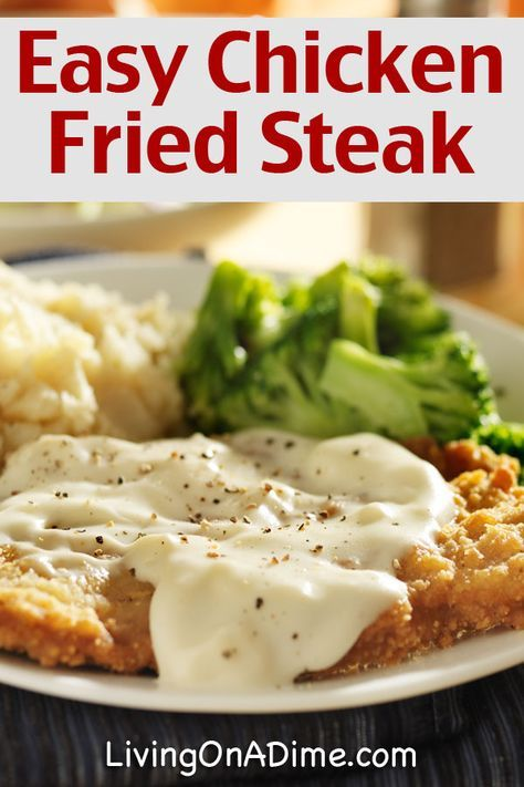 Easy Chicken Fried Steak And Gravy Recipe - Living on a Dime To Grow Rich