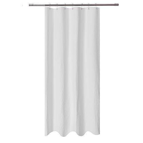 Stall Shower Curtain Fabric 36 X 72 Inch Waffle Weave Spa