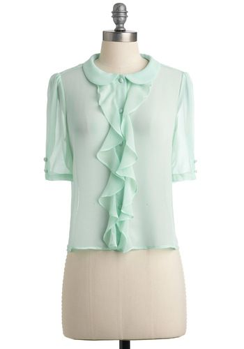 Light of Dawn Top in Morning Mint