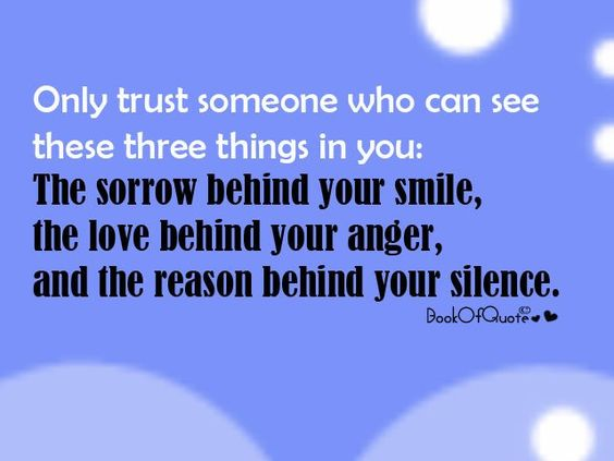 Only trust someone who can see these three things in you...