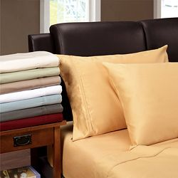 Egyptian Cotton 1200 Thread Count Solid Oversized Sheet Set