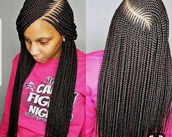 Large Cornrow Braided Wig Cornrow Braid Lace Wig Cornrow Wigs Full Lace Braided Wig Ghana Weaving Braided Wig Cornrows In 2021 African Hair Braiding Styles Braided Hairstyles Cornrows Braids