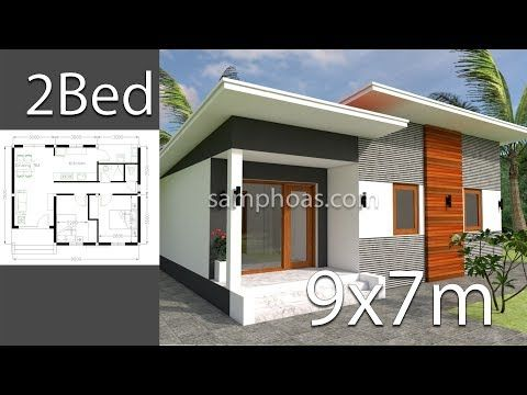 Plan 3d Home Design 9x7m 2 Bedrooms Youtube Small House Plans House Plans House Layout Plans