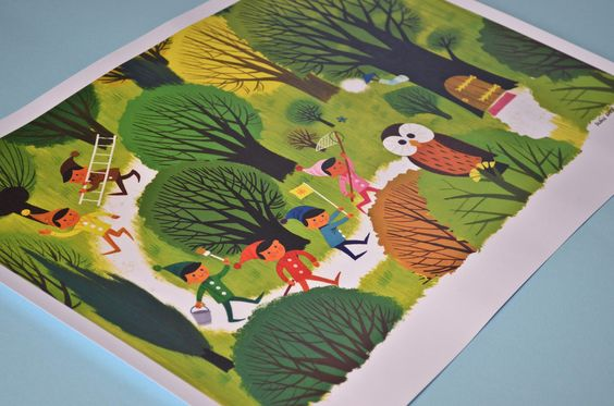 Alain Gree prints available from our online shop.  http://shop.anorakmagazine.com/product/elves-in-the-forest