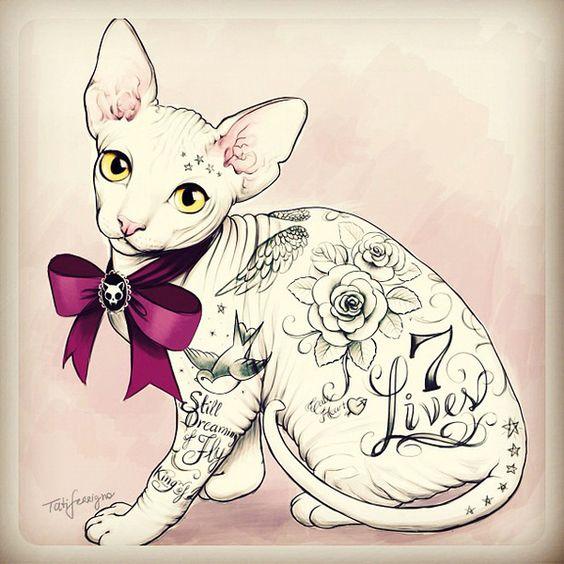#illustration - Personal Project by Tati Ferrigno #Tattoo Style
