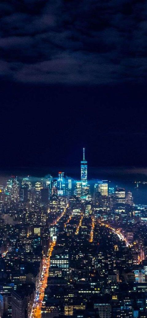 Iphone Xr Wallpaper City Night Skyline Beautiful Wallpapers Photo