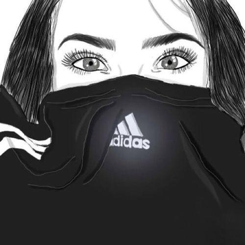 Adidas Surprenant Art Joliment Beaut Noir Et Blanc Savon Dessin Sourcils Yeux Repas