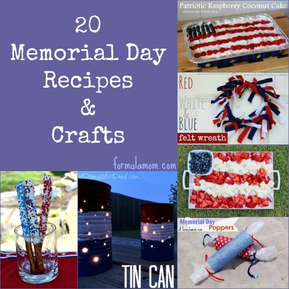 memorial day food crafts