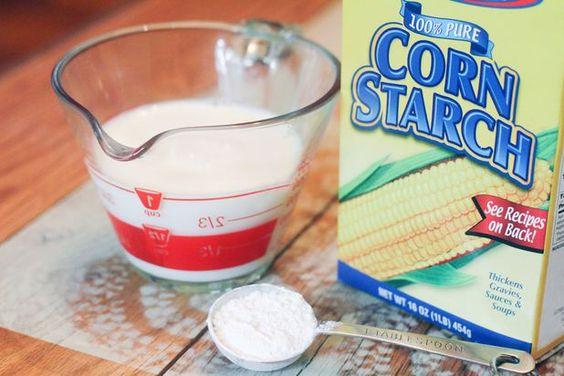 Milk/ cornstarch/ flour = whipping cream substitute. (1 cup milk, 2 tbsp cornstarch whisked, then whisk in 1 tbsp. flour)