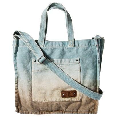 Mad Love Sulphur Dye Tote Bag - Aqua/Tan