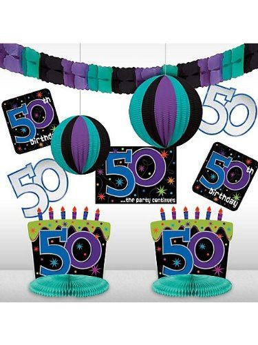 50th birthday room decorating kit 10 ct 50th birthday for Room decoration ideas for 50th birthday