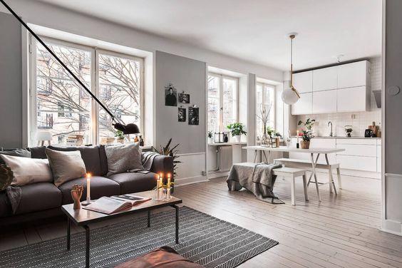 Un appartamento in stile scandinavo a Stoccolma