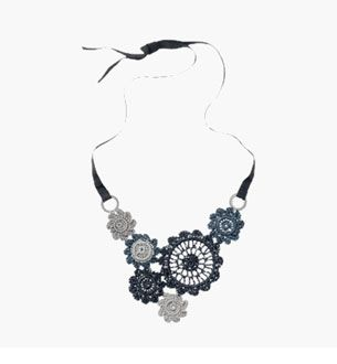 Crocheted Flowers necklace at Toast