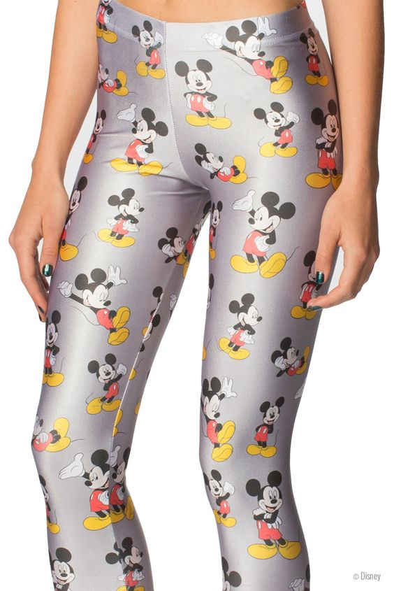 Mickey Mouse Leggings (WW $85AUD / US $80USD) by Black Milk Clothing