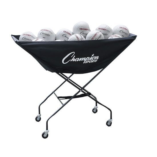 Champion Sports Collapsible Ball Cart Champion Sports Volleyball Sports