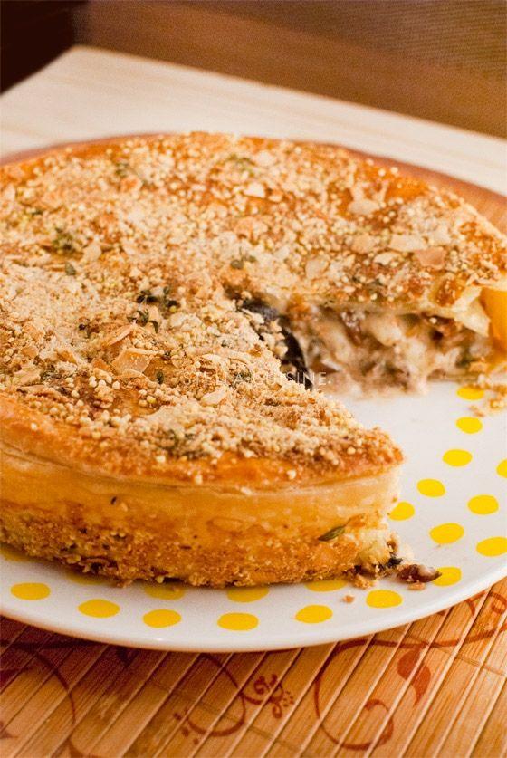 Recette de pie ou tourte aux champignons et au Comté de Philippe Conticini | StellA Cuisine !!! Recettes faciles, Recettes pas chères, Recettes rapides