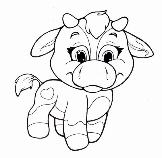 Cute Animal Coloring Pages Printable In 2020 Animal Coloring Pages Cow Coloring Pages Cute Coloring Pages