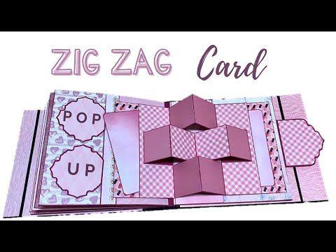 Zig Zag Pop Up Card Popup Card Ideas Tutorial For Scrapbook Youtube Fun Fold Cards Fancy Fold Cards Mini Scrapbook Albums