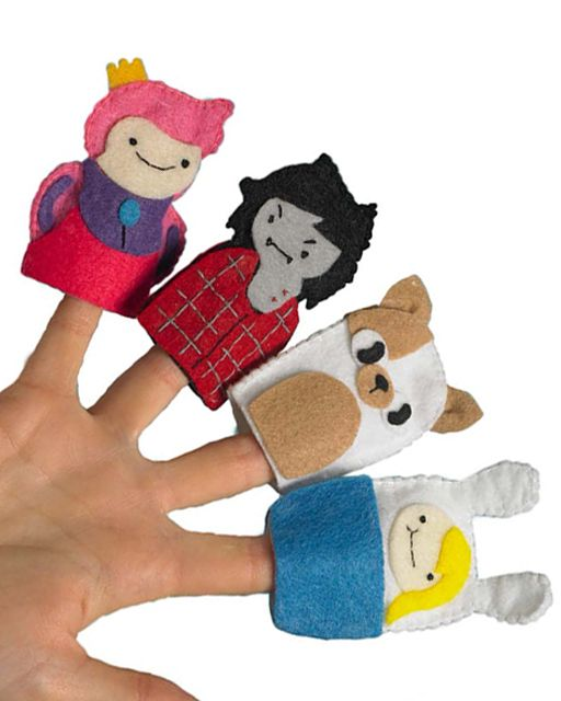 Adventure Time Finger Puppets from the book Adventure Time Crafts