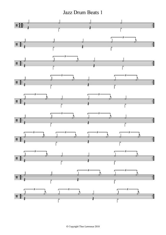 Drum jazz drum tabs : Pinterest • The world's catalog of ideas