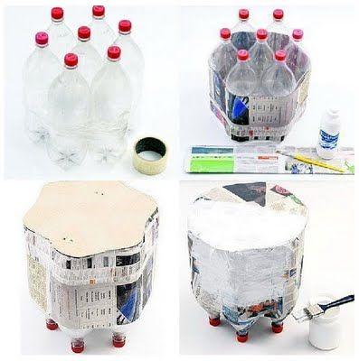 Recicla botellas de plástico: