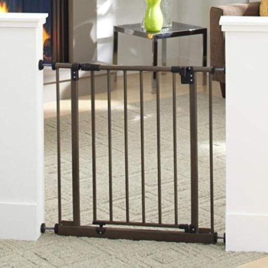 """North States 38.5/"""" Easy-Close Baby Gate The multi-directional swing gate with"""