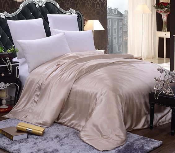 mulberry silk sheets white silk bedding     https://www.snowbedding.com/