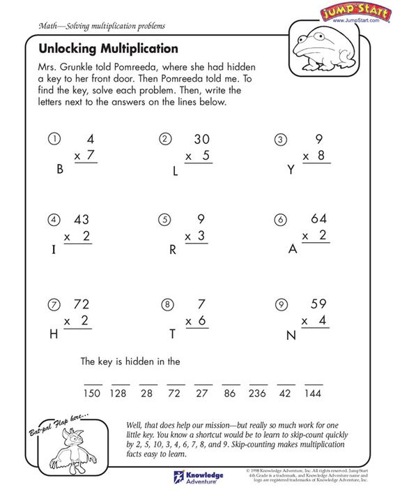 Math Worksheets Math Worksheets For 4th Grade With Answer Key – Math Worksheets Answer Key